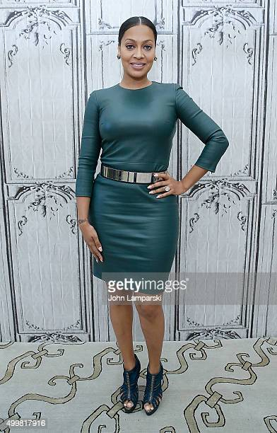 La La Anthony of 'Unforgettable' speaks during AOL Build at AOL Studios In New York on December 3 2015 in New York City