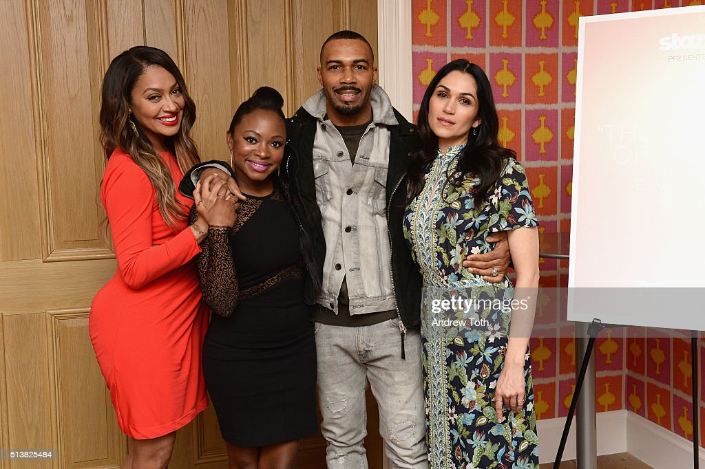 La La Anthony, Omari Hardwick, Naturi Naughton and Lela Loren attend the The Beauty Of Power Event at Crosby Hotel on March 4, 2016 in New York City.