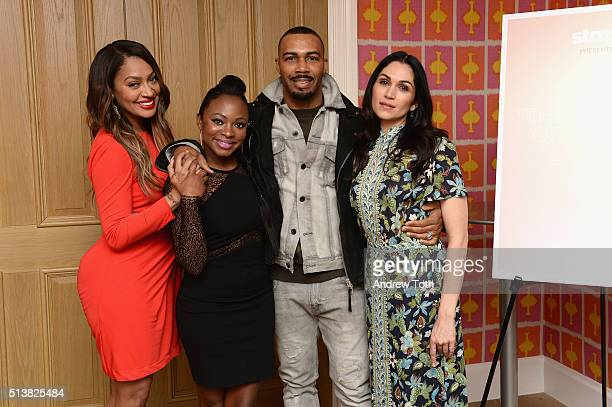 La La Anthony Omari Hardwick Naturi Naughton and Lela Loren attend the The Beauty Of Power Event at Crosby Hotel on March 4 2016 in New York City