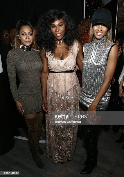 La La Anthony Serena Williams and Ciara attend HSN Presents Serena Williams Signature Statement Collection Fashion Show at Kia STYLE360 New York...