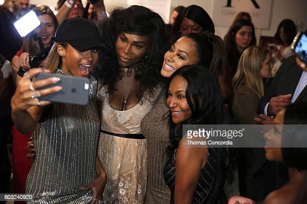 La La Anthony Serena Williams Ciara and Yolanda Frederick attend HSN Presents Serena Williams Signature Statement Collection Fashion Show at Kia...