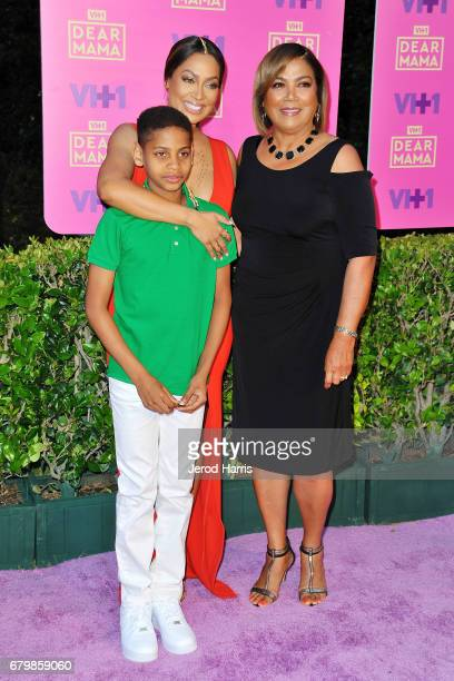 La La Anthony son Kiyan and mother Carmen Surillo arrive at VH1's 2nd Annual 'Dear Mama An Event To Honor Moms' at The Huntington Library on May 6...