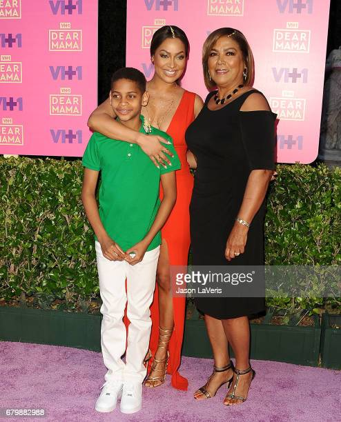 La La Anthony son Kiyan Carmelo Anthony and mother attend VH1's 2nd annual Dear Mama An Event to Honor Moms on May 6 2017 in Pasadena California