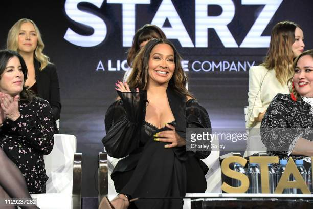 La La Anthony speaks onstage for Starz 'Fiercely Female Panel' onstage during the Starz 2019 Winter TCA Panel AllStar After Party on February 12 2019...