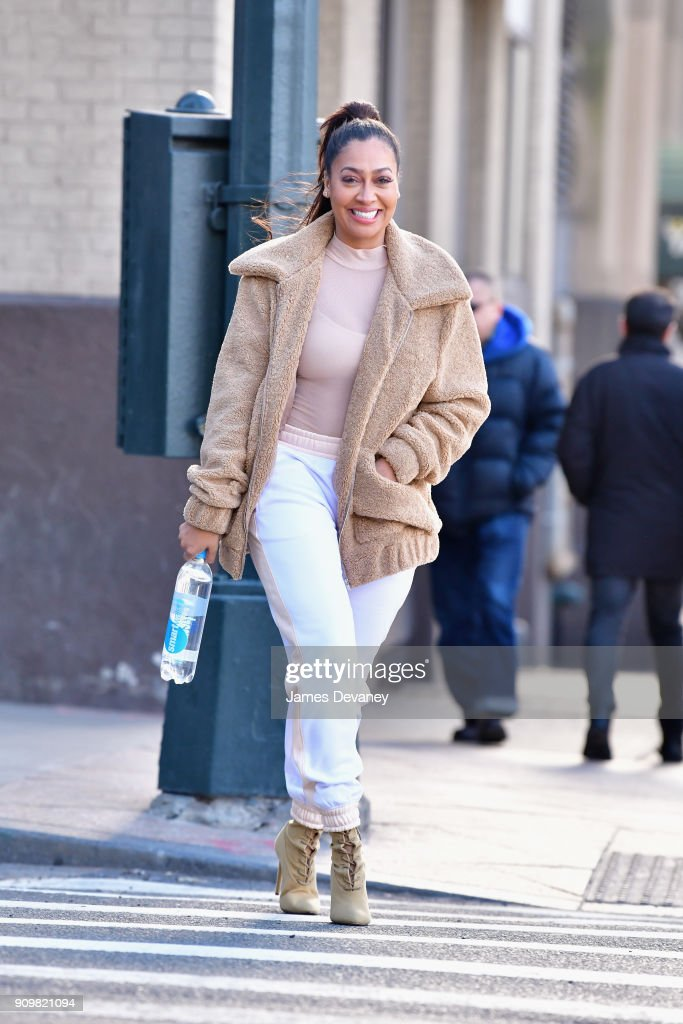 La La Anthony spotted sipping on smartwater sparkling on January 24, 2018 in New York City.