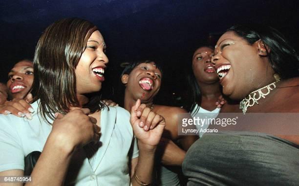 La la Kima Alaysia and Jennifer attend the transgender ball at the Roseland Ballroom in New York City in June 1999