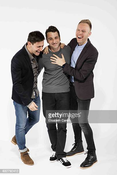 La La Land Composers Justin Hurwitz Justin Paul Benj Pasek are photographed for The Wrap on December 5 2016 in Los Angeles California