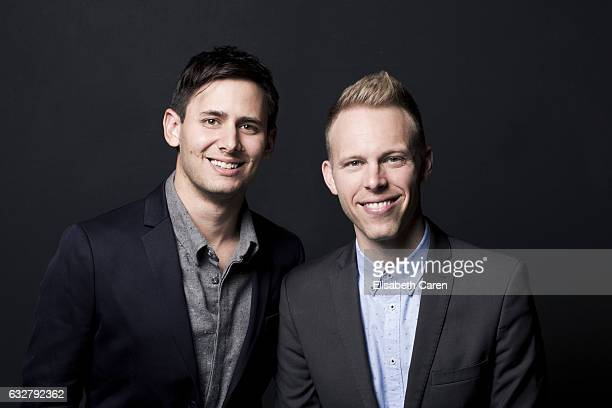 La La Land Composers Justin Paul and Benj Pasek are photographed for The Wrap on December 5 2016 in Los Angeles California