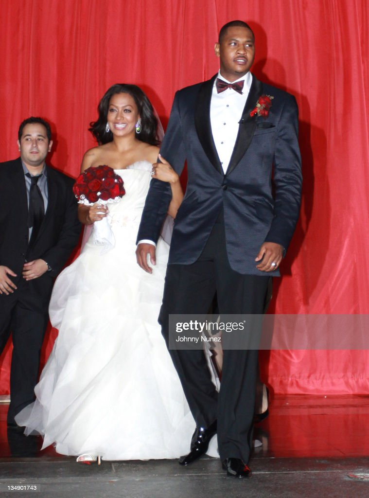 La Vasquez And Carmelo Anthony Attend Anthonys Wedding At Cipriani