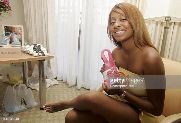 La La Vasquez during UPP Entertainment Marketing's PreVMA Luxury Suite Day Two at The Loewes Miami Beach Hotel in Miami FL United States