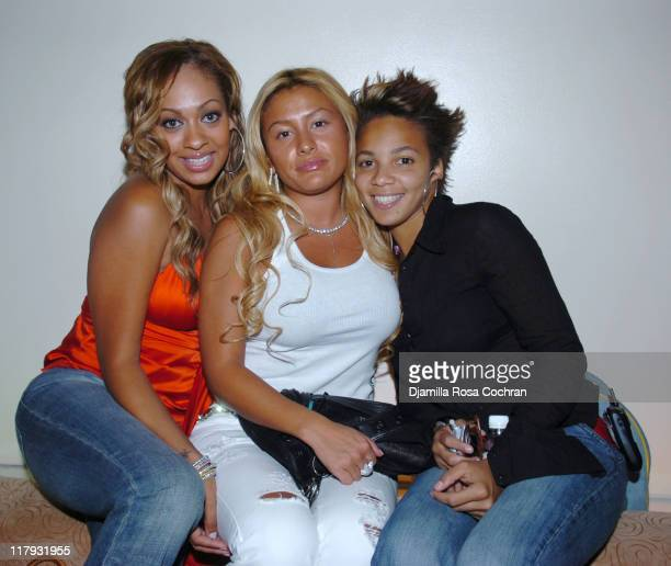 La La Vasquez Lorena Cartegena and Ayanna during Hakim Warrick and Raymond Felton's Draft Party at Glo June 28 2005 at Glo in New York City New York...