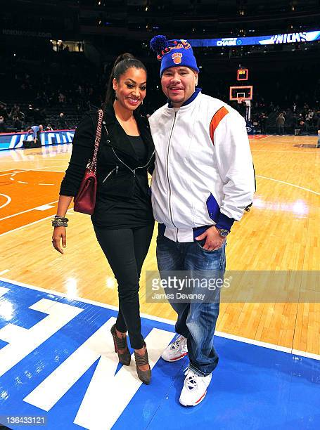 La La Vazquez and Fat Joe attend the Charlotte Bobcats vs the New York Knicks game at Madison Square Garden on January 4 2012 in New York City