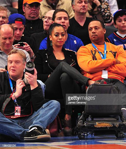 La La Vazquez attends the Charlotte Bobcats vs the New York Knicks game at Madison Square Garden on January 4 2012 in New York City