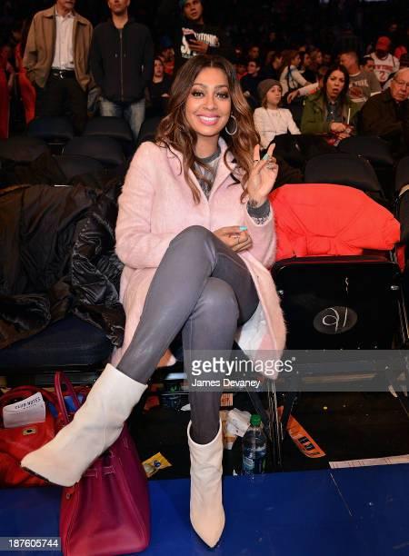 La La Vazquez attends the San Antonio Spurs vs New York Knicks game at Madison Square Garden on November 10 2013 in New York City