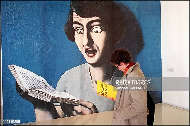 La lecture soumise' by Magritte in 'La Revolution Surrealiste' at Georges Pompidou center in Paris France on March 2002