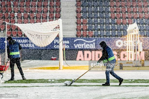 La Liga match director is going to decide wit the Referees and the captains if the match is going to be played! during the La Liga Santander match...