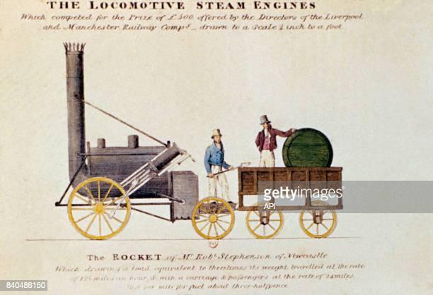 La locomotive à vapeur 'Fusée de Stephenson' en 1834