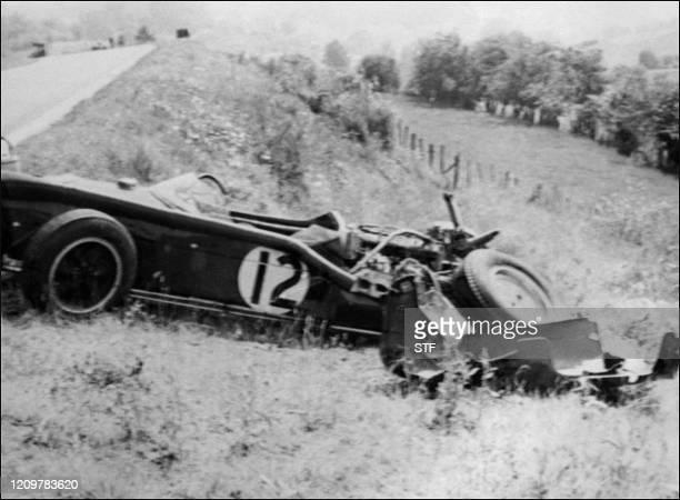 la Lotus du pilote anglais Stirling Moss le Poulidor de la F1 quatre fois vicechampion du monde connu dans le monde entier avec 16 victoires en 66...