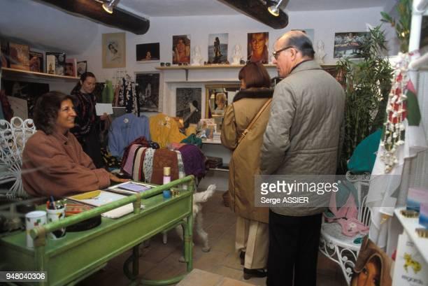 'La Madrague' la boutique de Brigitte Bardot a SaintTropez en avril 1984 a SaintTropez France
