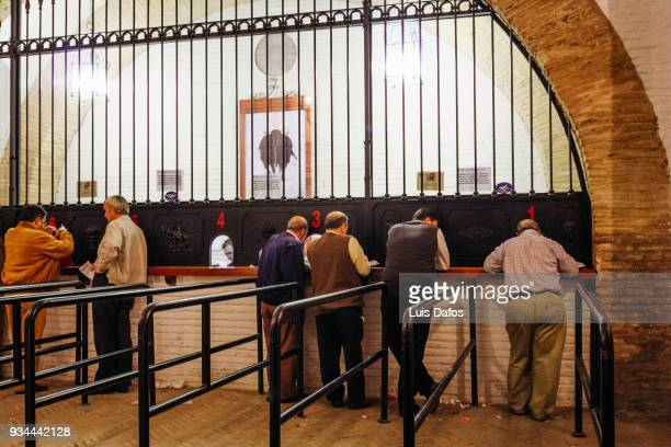 la maestranza bullring ticket office. - dafos stock photos and pictures