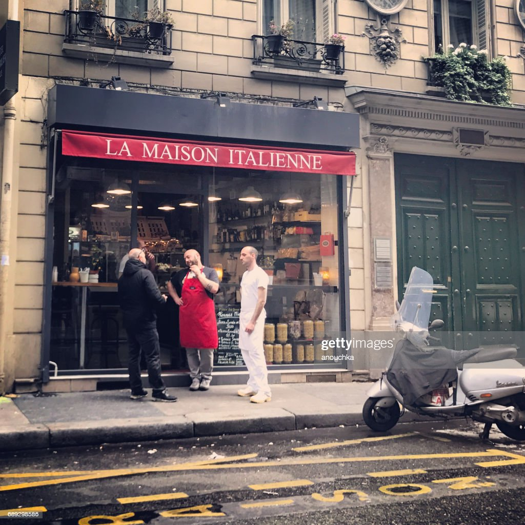 La Maison Italienne - Italian House in Paris, France : Stock Photo
