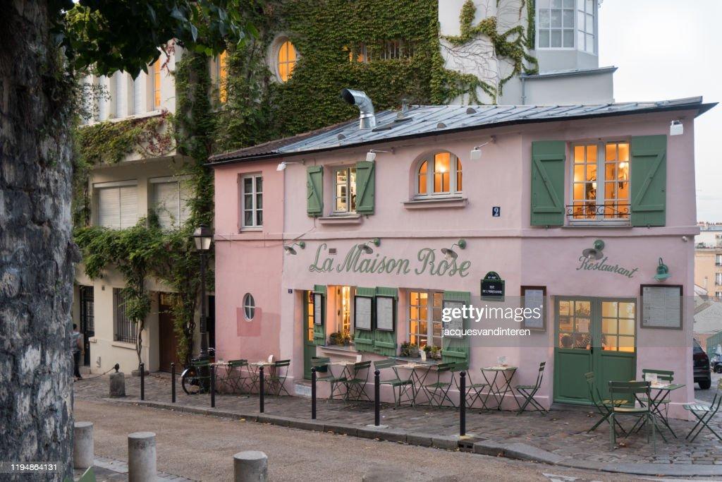La Maison Rose A Restaurant In Montmartre Paris France High Res Stock Photo Getty Images