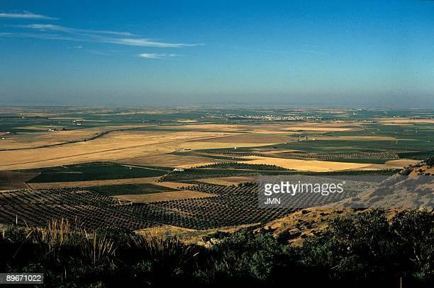 La Mancha landscape Ciudad real Plain of La Mancha Cerro Navajo and Villarta de San Juan