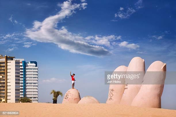 La Mano Sculpture at Playa Brava