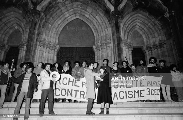 La Marche pour l'Egalite appelee egalement Marche des Beurs est de passage en Alsace ou de nombreuses personnes ont pris le relais des marcheurs...