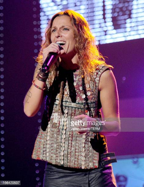 La Mari of Chambao performs onstage during the 2012 Latin Recording Academy Person Of The Year honoring Caetano Veloso at the MGM Grand Garden Arena...