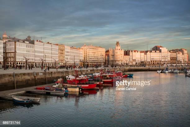 la marina galleries, a coruña (galicia) - a coruña stock pictures, royalty-free photos & images
