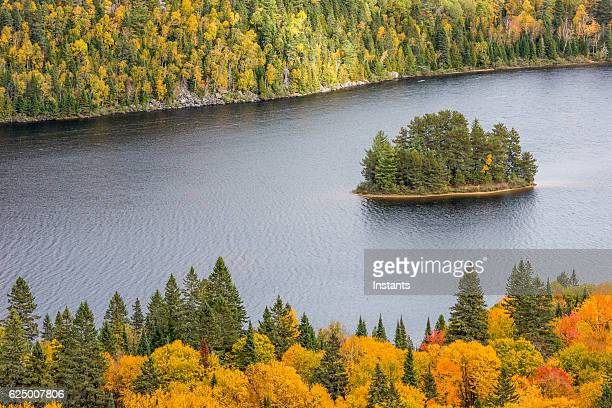 la mauricie national park autumn colors - shawinigan stock pictures, royalty-free photos & images