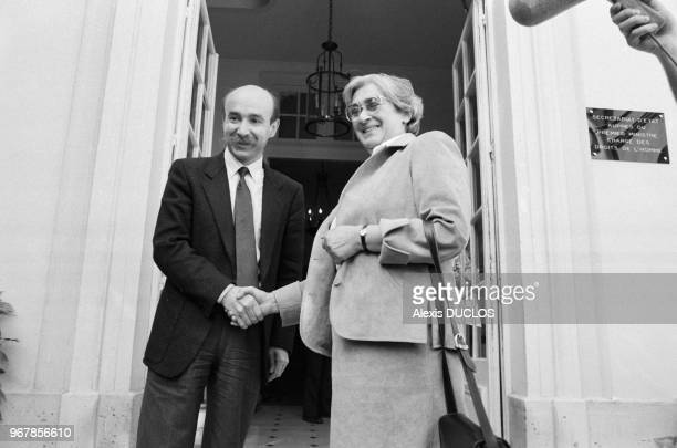 La militante des droits de l'Homme en URSS Elena Bonner a été reçue par le secrétaire chargé des Droits de l'homme Claude Malhuret le 26 mai 1986 à...