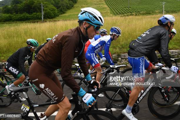 La Mondiale rider France's Romain Bardet rides in the pack during the sixth stage of the 71st edition of the Criterium du Dauphine cycling race, 229...