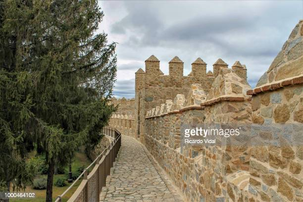 la muralla de avila - muralla stock photos and pictures
