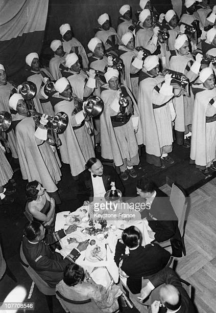 La Nouba Spahis Of Senlis Playing In A Nightclub Of Touquet Paris Beach On August 18Th 1950