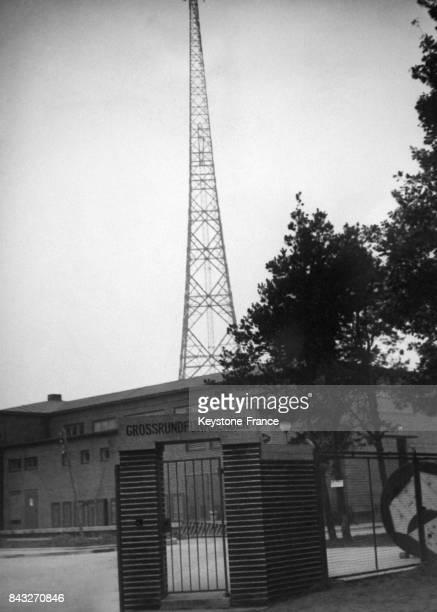 La nouvelle antenne de radio berlinoise le 26 octobre 1933 à Berlin Allemagne