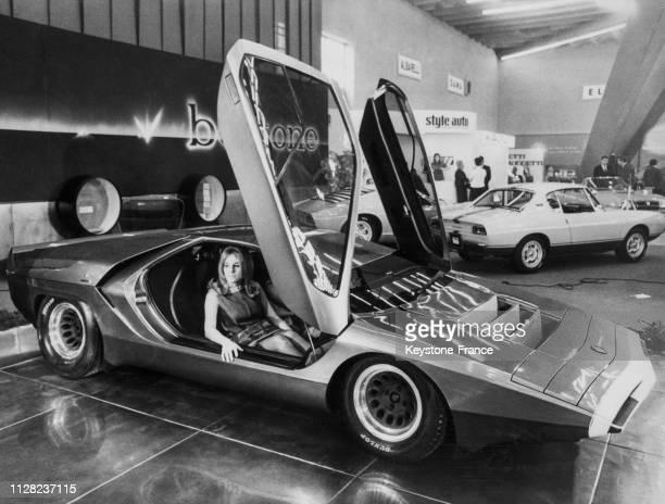 La 'P 33 Carabo' de Alfa Romeo présentée à Turin, Italie, le 4 novembre 1968.