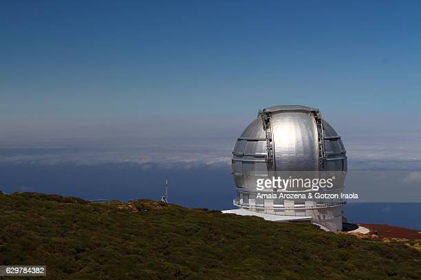 la palma island, canary islands. international astrophysical observatory of roque de los muchachos. - observatory stock pictures, royalty-free photos & images