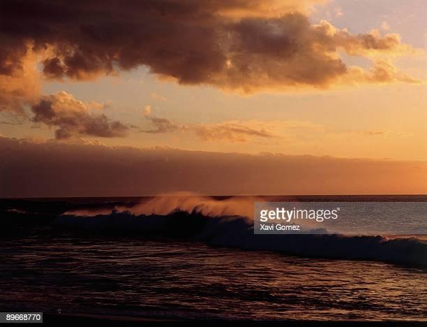 La Pared Fuerteventura Canarias Waves breaking