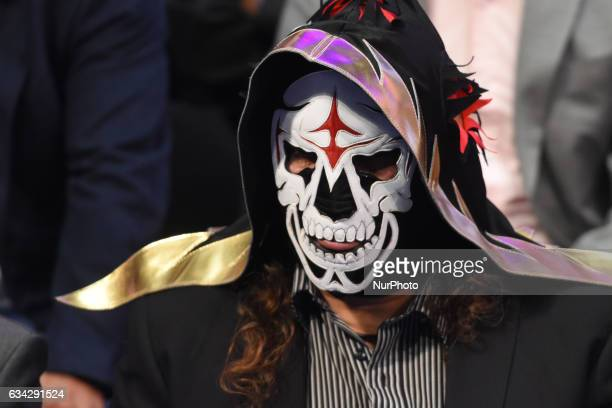 La Parka is seen during World Day Against Cancer at city hall on February 08 2017 in Mexico City Mexico