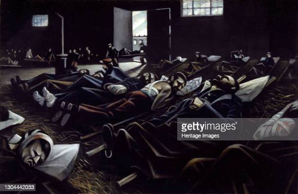 La Patrie, 1916. 'La Patrie' portrays an horrific incident the artist experienced during World War I when his Red Cross unit came upon a goods yard...