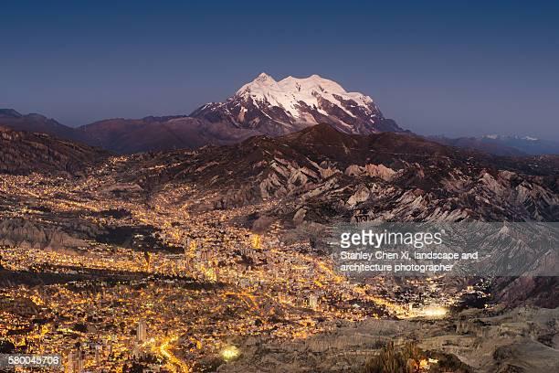 La Paz and Illimani