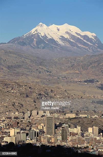 La Paz and Mount Illimani
