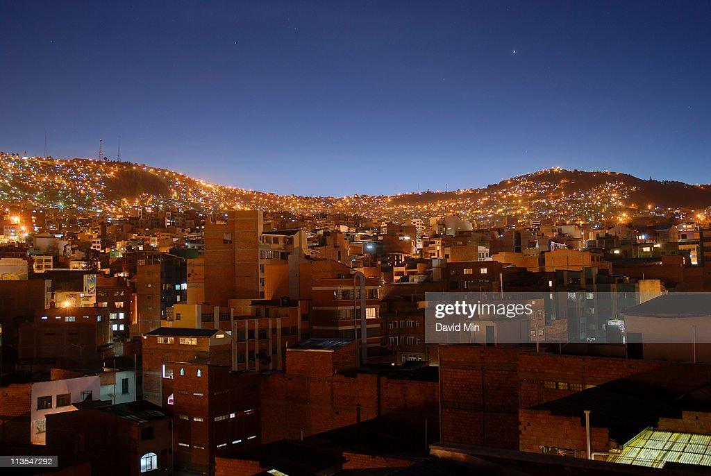 La Paz cityscape, Bolivia : Stock Photo
