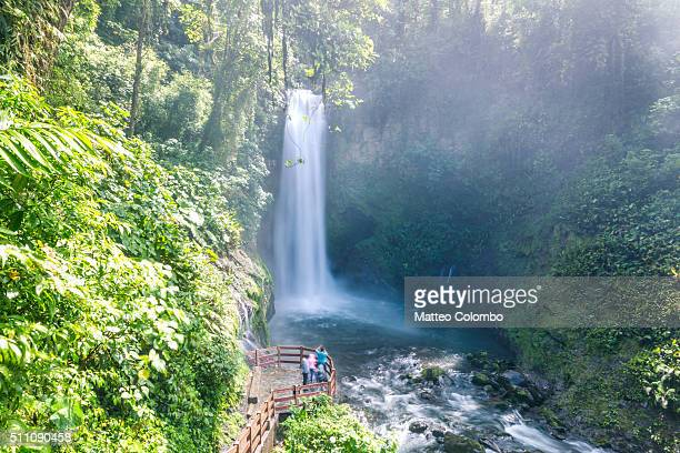 La Paz waterfall in the lush rainforest of Costa Rica
