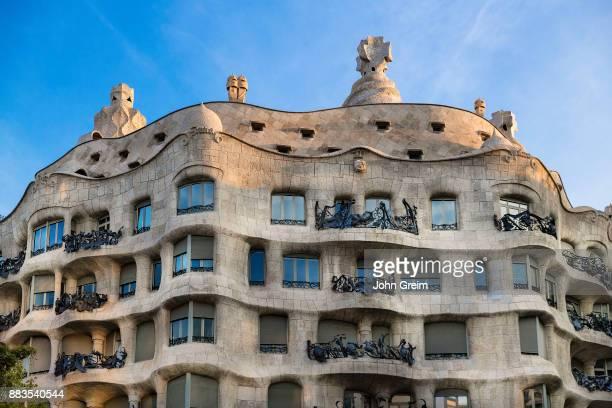 La Pedrera Casa Milà house designed by Antonio Gaudi