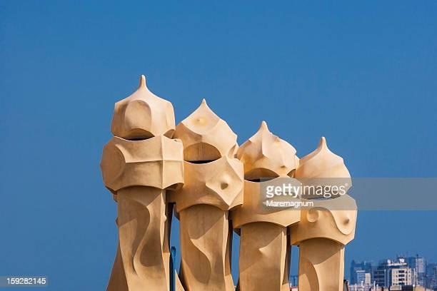 La Pedrera (Casa Milà), chimneys on the roof