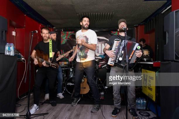 La Pegatina performs in concert at ´Ahora O Nunca´ new album presentation on April 5 2018 in Madrid Spain