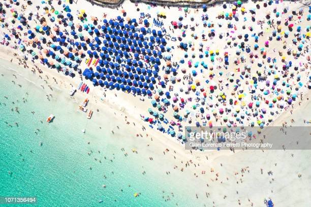 la pelosa in agosto - aerial - stintino - sardinia stock pictures, royalty-free photos & images